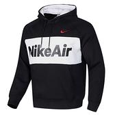 【跨店好好買折後$2480】Nike Air Hoodie 男裝 長袖 連帽 帽T 休閒 刷毛 拼接 黑 白 CJ4825-010