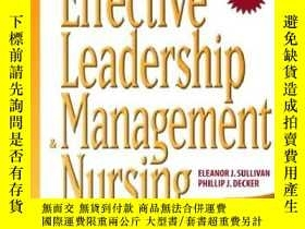 二手書博民逛書店Effective罕見Leadership And Management In Nursing (6th Edit