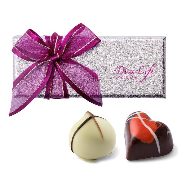 【Diva Life】經典夾心禮盒3入 10盒裝(比利時手工夾心巧克力)