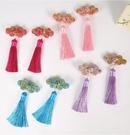兒童頭飾品髪夾女童中國風毛球髪飾