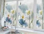 遮光窗戶貼紙臥室窗花貼透光不透明浴室客廳衛生間淋浴房玻璃貼紙QM 藍嵐