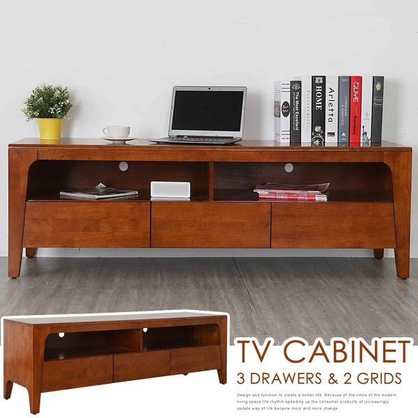 電視櫃《YoStyle》克林實木電視櫃-柚木色 矮櫃 收納櫃 置物櫃