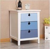 實木床頭櫃美式臥室儲物收納床邊小櫃整裝