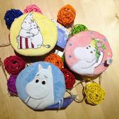 超可愛嚕嚕米小河馬卡通零錢包 收納包 刺繡圓形零錢包 收線包 雜物包 交換禮物