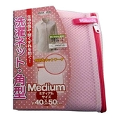 Minodo 粉彩網角型洗衣袋-粉(40*50cm)【愛買】