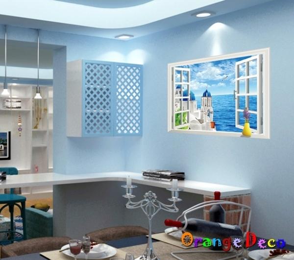 壁貼【橘果設計】地中海窗戶 DIY組合壁貼 牆貼 壁紙 壁貼 室內設計 裝潢 壁貼