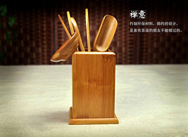 ☆Dolly生活館*╮功夫茶具 簡約竹製鏤空設計茶道六君子配件/泡茶用品 20931