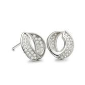 耳環 925純銀鑲鑽-典雅耀眼生日情人節禮物女飾品2色73dm119【時尚巴黎】