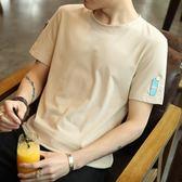 男士短袖t恤i上衣服韓版男生潮流半袖體恤男裝    蜜拉貝爾
