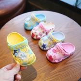 兒童洞洞鞋 巴布豆小童洞洞鞋寶寶浴室防滑家用涼拖夏季男童女1-3歲2兒童拖鞋 免運
