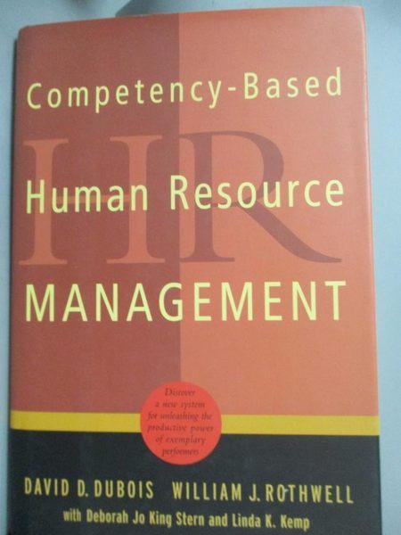 【書寶二手書T9/傳記_XEL】Competency-Based Human Resource Management_D