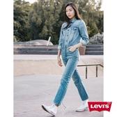 Levis 女款 牛仔連身工作褲 / 復古高腰修身版型 / 鈕扣穿脫