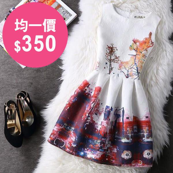 洋裝 韓版 無袖小香風連身裙 小禮服 花漾小姐【預購】