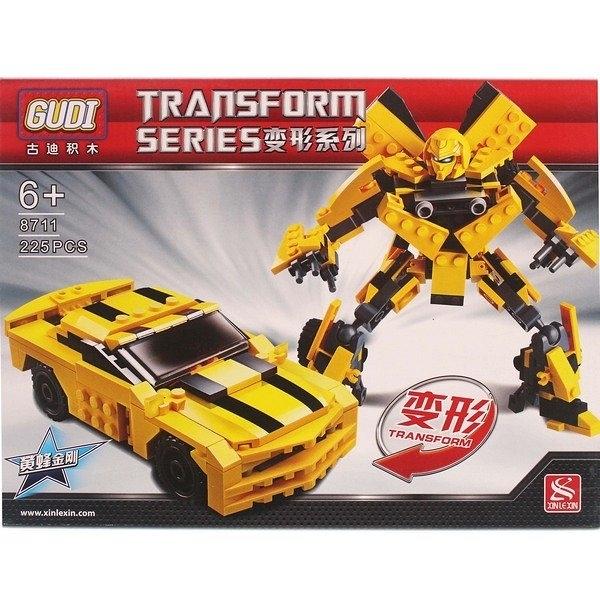 古迪積木 8711 大黃蜂變形金剛積木 約225片/一個入(促299) 可變形積木-首BB5047A