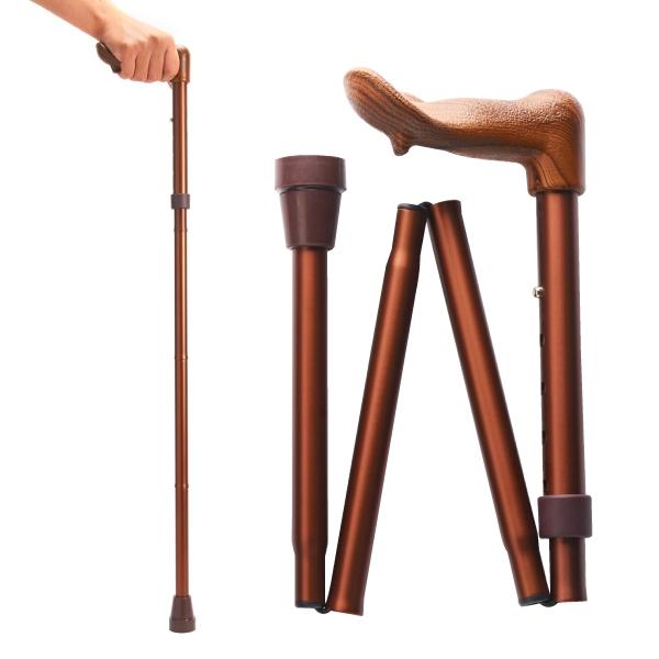 Merry Sticks 悅杖 人體工學折疊手杖-紳士棕 (右手用) (單支)【杏一】