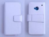 New HTC One (HTC X810e)/One 4G LTE 真皮側翻手機保護皮套 荔枝紋 5色可選