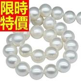 珍珠項鍊 單顆8-9mm-生日情人節禮物甜美撫媚女性飾品53pe22【巴黎精品】