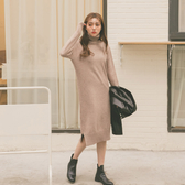 MUMU【O25912】高領針織毛衣連身裙。四色