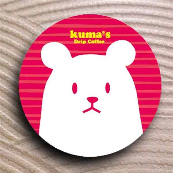 熊愛喝咖啡-陶磁吸水杯墊/紅【熊愛咖啡】