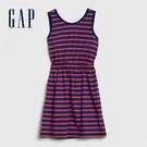 Gap女童柔軟舒適圓領無袖洋裝578105-紅藍條紋