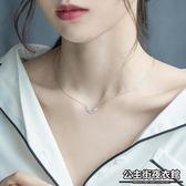 銀項鏈   女韓版簡約學生吊墜款鎖骨鏈簡約大方氣質個性日韓