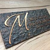 仿古門牌定做 壓克力浮雕方古銅標牌青銅門牌 logo復古舊標識別墅
