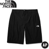 【The North Face 男 彈性透氣排汗短褲 《黑》】4NC9/運動短褲/休閒短褲