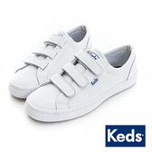 KEDS 時尚運動魔鬼氈皮質休閒鞋 白 173W132211 女鞋 平底│小白鞋
