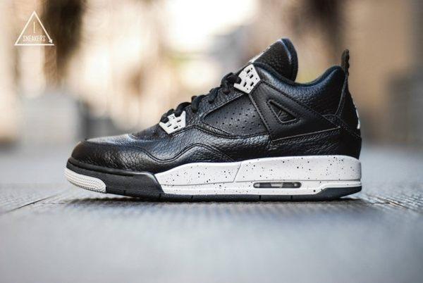 ISNEAKERS Nike Air Jordan 4 Retro BG Oreo 黑白 潑墨 女 408452-003