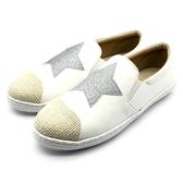 7+1童鞋》大童 海島風格 舒適好穿 休閒鞋 懶人鞋 F215 白色