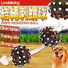【培菓平價寵物網】LOVAB》結繩流星刺蝟雙球寵物玩具