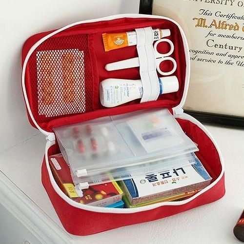 家用大容量藥品藥物收納包 戶外旅行便攜分類大藥包 (隨機出貨)