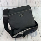 BRAND楓月 PRADA 普拉達 2VH053 黑色 尼龍 倒三角牌LOGO 斜背包 側背包