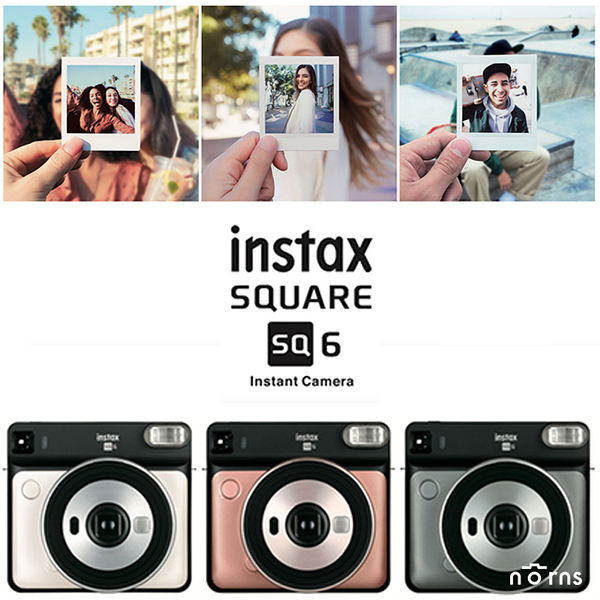 【SQ6拍立得相機 公司貨】Norns 日本富士instax SQUARE方形底片Fujifilm一年保固 附濾鏡