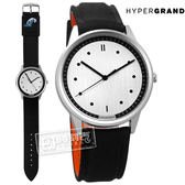 HyperGrand  /BW02SILSTH / HIDE x SEEK 飛行員2.0版魔鬼氈徽章反光面料真皮手錶 銀x黑 40mm
