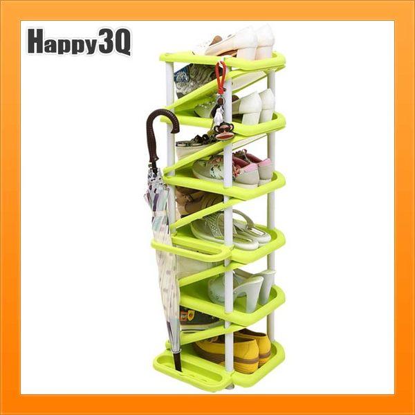 創意鞋架雨傘架鞋架鞋子收納掛勾雨傘收納架-紅/綠/青/藍/紫/粉/淺綠【AAA2529】預購