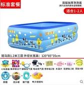 寶寶游泳池充氣家庭加厚家用兒童泳池小孩游泳嬰兒bb可摺疊游泳桶YYJ