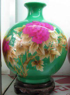 牡丹花陶瓷 工藝品/擺件/麥杆瓷/高檔花瓶/家居裝飾09