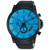 【J.SPRINGS】Chronograph Sports三眼計時手錶 (藍面/黑色IP鋼殼 JSBFD078)