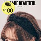 (現貨-白)PUFII-髮帶 韓系純色網格髮帶髮箍 2色 - 0922 現+ 預 秋【CP11183】