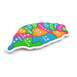 【收藏天地】台灣紀念品*PVC地圖系列冰箱貼-白底-(2款)