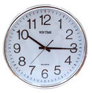 """14""""跳秒銀框辦公鐘  W-9135"""