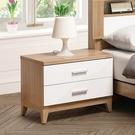 【森可家居】金詩涵床頭櫃 8ZX319-2 白色 木紋質感 無印風 北歐風