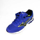 [陽光樂活]MIZUNO 美津濃 WAVE RIDER21 兒童 慢跑鞋  輕量 透氣 耐磨 高避震 K1GC182509 藍