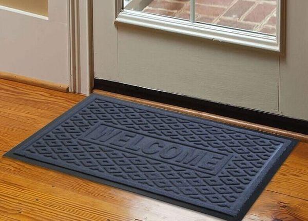 灰色歡迎光臨橡膠防滑地墊地毯 進門吸水門墊室外入戶蹭腳墊子