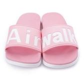 AIRWALK系列 男女款粉色休閒拖鞋 NO.A825220341