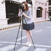 便攜三腳架單眼微單相機腳架攝影攝像三角架手機自拍直播支架  青木鋪子