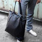 男士手提包   韓版時尚簡潔PU皮男士手提休閒包大容量包潮包   ciyo黛雅