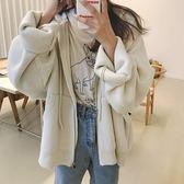 梨卡 - 秋冬氣質甜美純色寬鬆慵懶保暖加厚加大毛衣風衣針織外套BR142