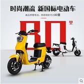 台灣現貨 一鈴新國標電動自行車48V電瓶車成人智能男女小型踏板鋰電代步車igo